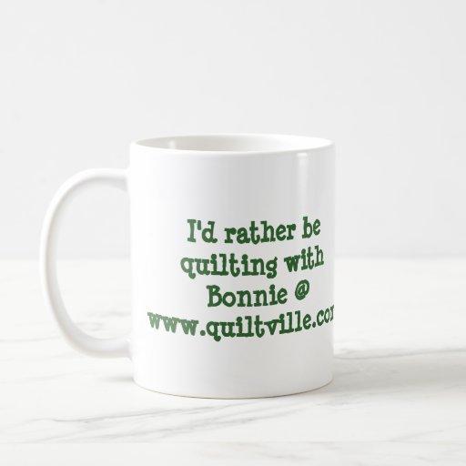 carolinachristmas, I'd rather be quilting ... Classic White Coffee Mug