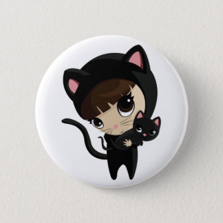 Caroline and Candy the Cats Button