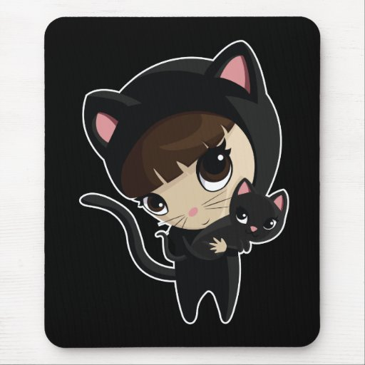 Caroline and Candy the Cats Mouse Pad
