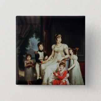 Caroline Bonaparte  and her Children Pinback Button