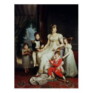 Caroline Bonaparte  and her Children Postcard