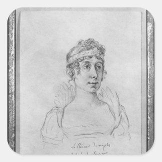 Caroline Bonaparte, reina de Nápoles Pegatina Cuadrada