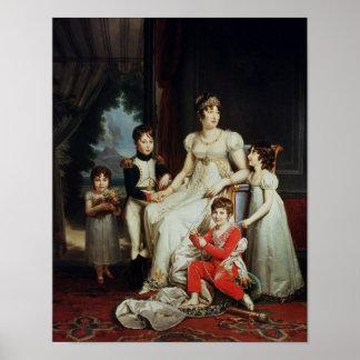 Caroline Bonaparte y sus niños Posters
