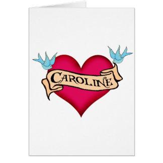 Caroline - camisetas y regalos de encargo del tatu felicitacion