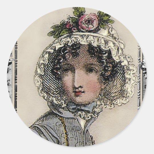 Caroline Classic Round Sticker