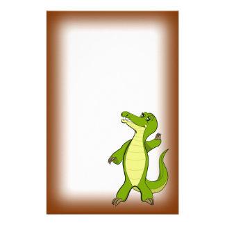 Caroline Crocodile Stationery Design