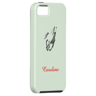 Caroline Green iPhone 5 case with Wild Horse