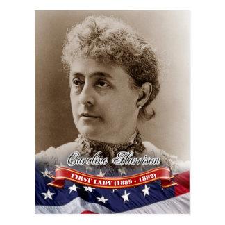 Caroline Harrison First Lady of the U S Post Card