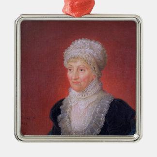 Caroline Herschel, 1829 Adorno Cuadrado Plateado