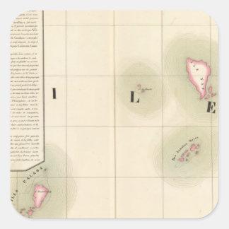 Caroline Islands Oceania no 8 Square Sticker