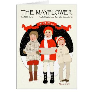 Caroling Children Vintage Christmas Noel Snow Card