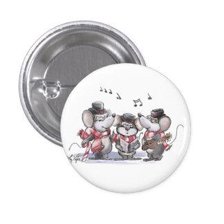 Caroling con el Mic, el mac y el botón de Moe Pin Redondo De 1 Pulgada
