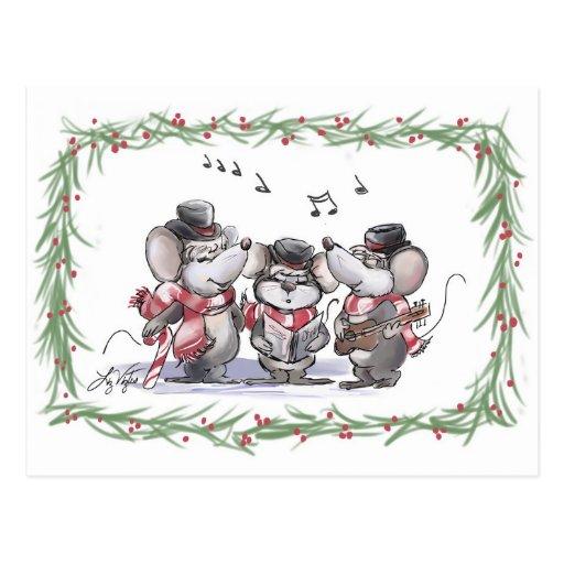 Caroling con el Mic, el mac y la postal de Moe