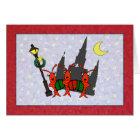 Caroling Crawfish / Lobster Cathedral Christmas Card