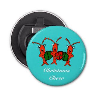 Caroling Crawfish / Lobsters Christmas Cheer Bottle Opener
