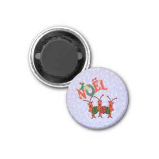 Caroling Crawfish with Santa Alligator Magnets