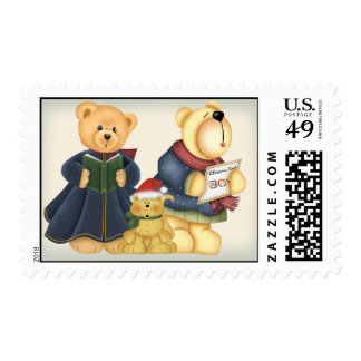 Caroling Critters Postage Stamps