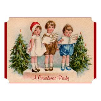 Caroling embroma la invitación de la fiesta de