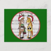 Caroling Horses- 'Mare'y Christmas Invitation