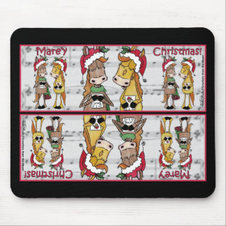 Caroling Horses- 'Mare'y Christmas Mouse Pad