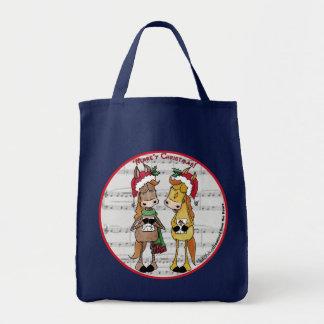 Caroling Horses- 'Mare'y Christmas Tote Bag