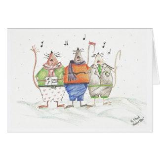 Caroling Mice Greeting Card