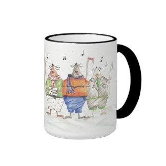 Caroling Mice Mug