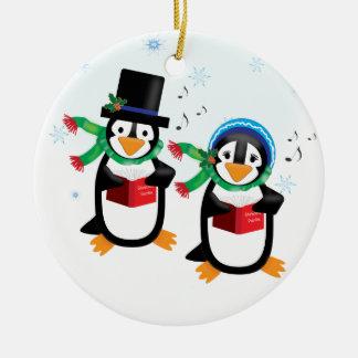 Caroling Penguin Family Ornament