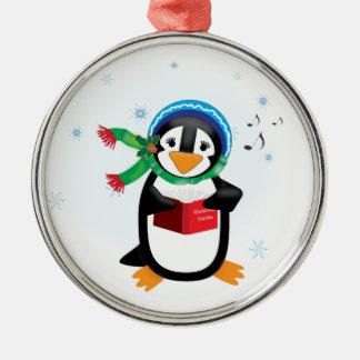 Caroling Penguin Girl Ornament