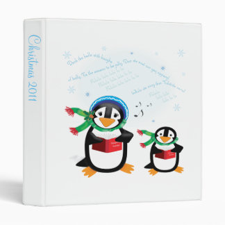 Caroling Penguins - Deck the Halls Avery Binder