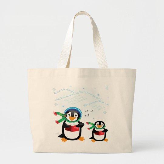 Caroling Penguins - Deck the Halls Bag