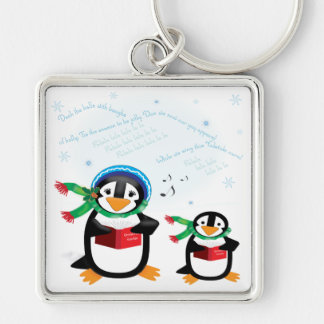 Caroling Penguins - Deck the Halls Keychain