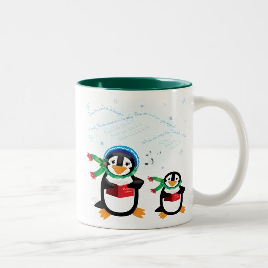 Caroling Penguins - Deck the Halls Mug