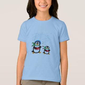 Caroling Penguins - Deck The Halls T-shirt