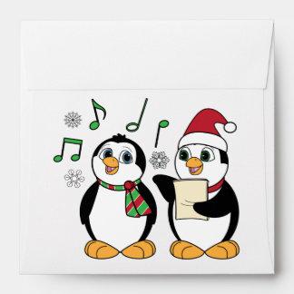 Caroling Penguins Envelope