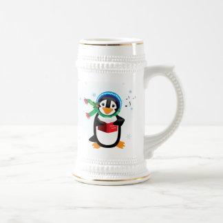 Caroling Penguins Mug