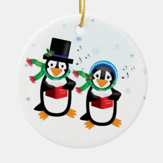 Caroling Penguins Ornament