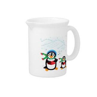 Caroling Penguins Pitcher