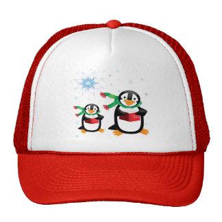 Caroling Penguins Trucker Hat