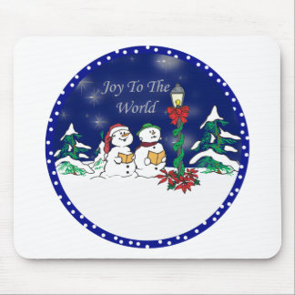 caroling snowman mouse pad