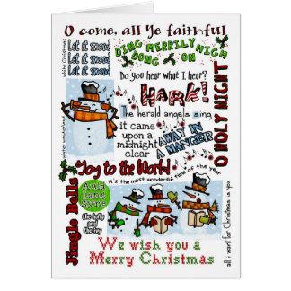 Caroling Snowmen Card