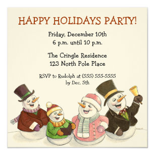 60% Off Caroling Christmas Invitations – Shop Now to Save | Zazzle