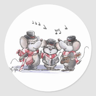 Caroling with Mic, Mac & Moe Sticker