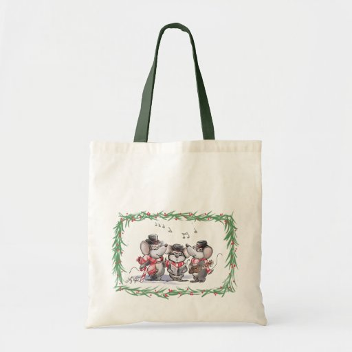 Caroling With Mic, Mac & Moe Tote Bag