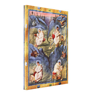 Carolingian book painters - Aachen Gospels Gallery Wrap Canvas