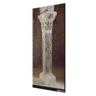 Carolingian Pillar, c.758 Canvas Print