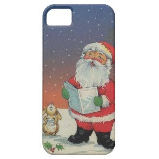 Carolling santa iPhone SE/5/5s case
