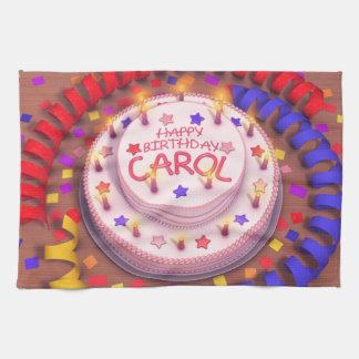 Carol's Birthday Cake Hand Towels