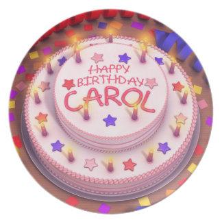 Carol's Birthday Cake Melamine Plate