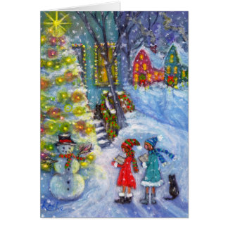 Carols for the Snowman Greeting Cards